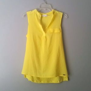 Calvin Klein Yellow Tank Top